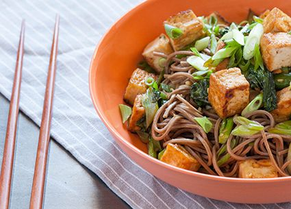Tofu & Chinese broccoli with soba noodle salad [Recipe] | HellaWella