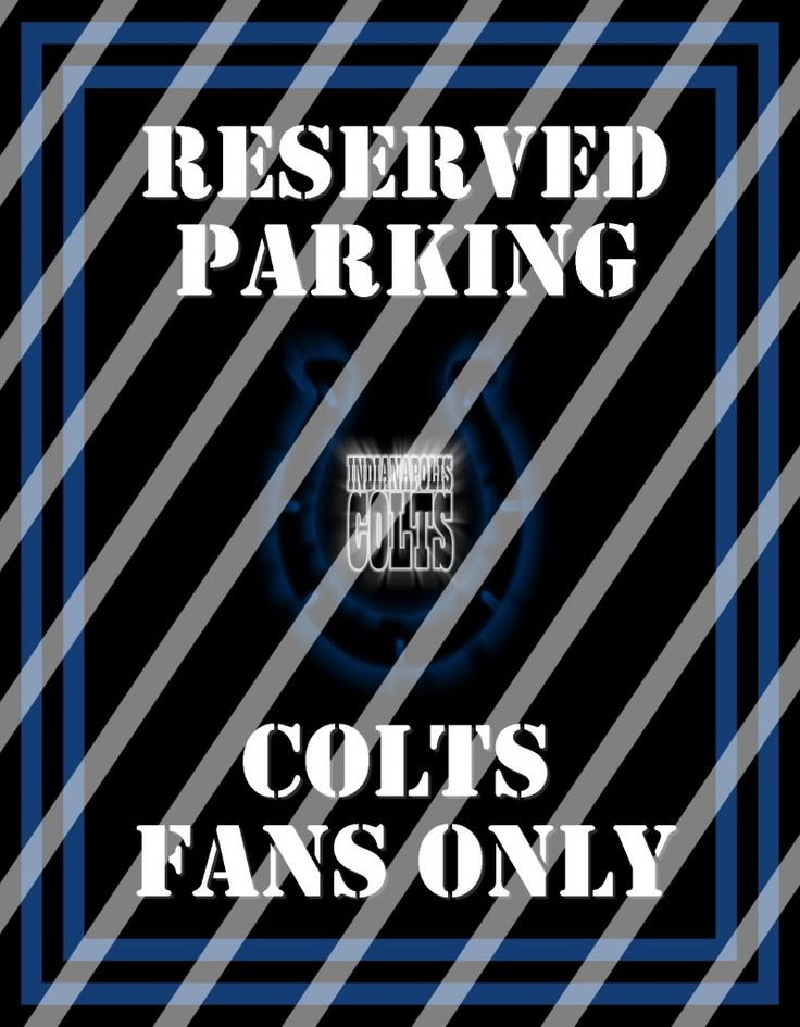 Indianapolis Colts Parking Wall Decor Sign #3 (digital or shipped ...