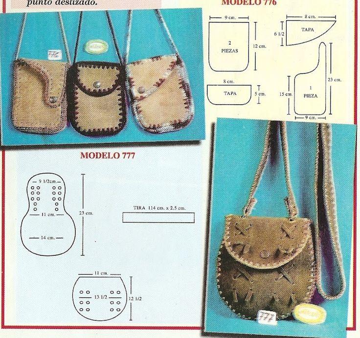 crochet bag / Bolsos y carteras en cuero y crochet // Sana Adicción