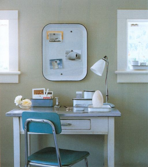 ♥Desks Area, Metals Trays, Art Spaces, Offices Crafts, Crafts Spaces, Magnets Boards, Crafts Room, Work Spaces, Home Offices