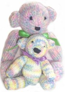 Very cute, Teddy Bears to knit, Free Pattern: Bill, Knitting Patterns Animals, Twin Bears, Knitted Twin, Knitting Toy, Knit Toys, I