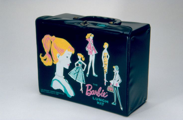 March 9, 1959: The first Barbie doll goes on display in New York City. 1962 lunch box.