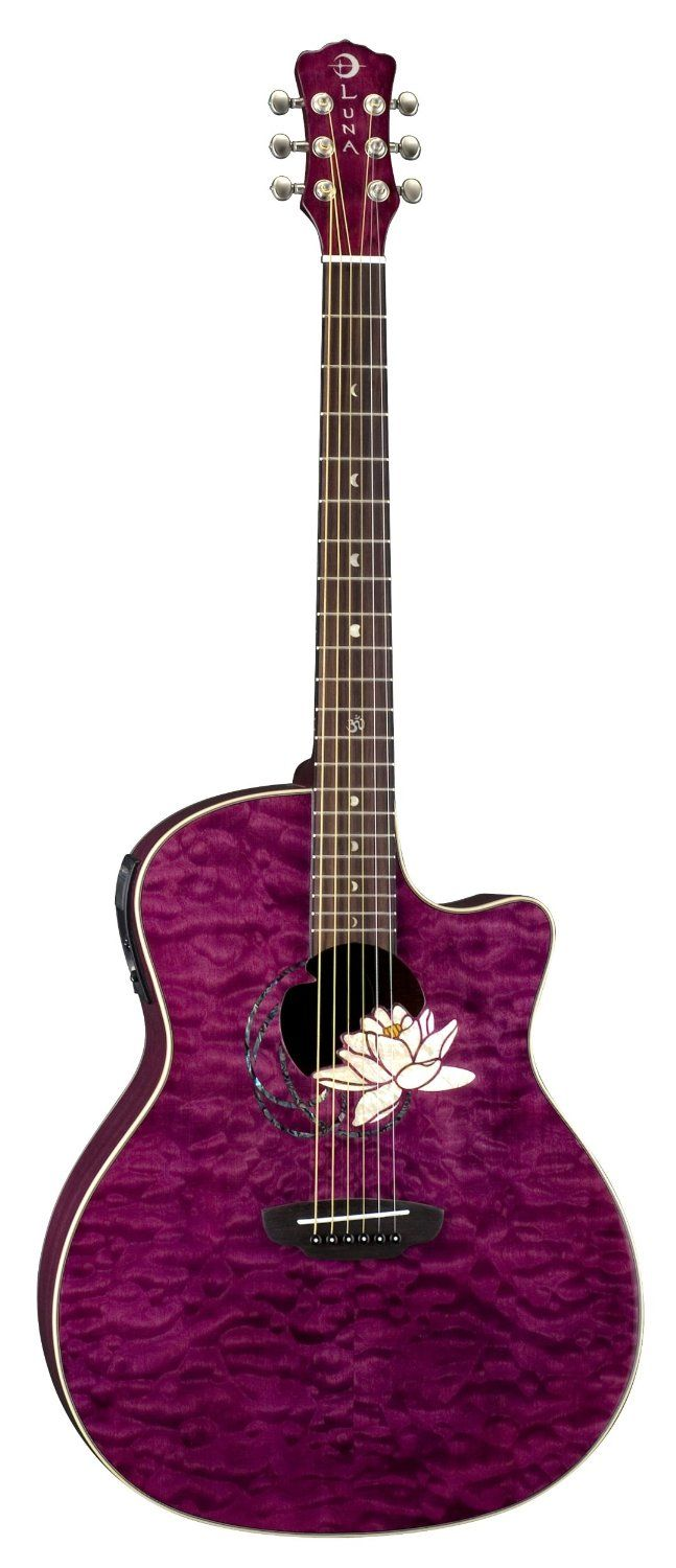 Amazon.com: Luna Flora Lotus Acoustic Guitar  @Mallorie Ten Braak