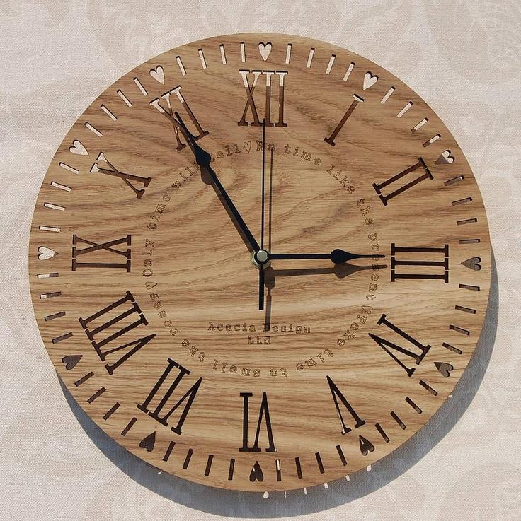 Take Time' Laser Cut Clock