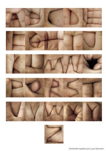 hand font: Idea, Hands, Art, Alphabet, Type, Typography, Design