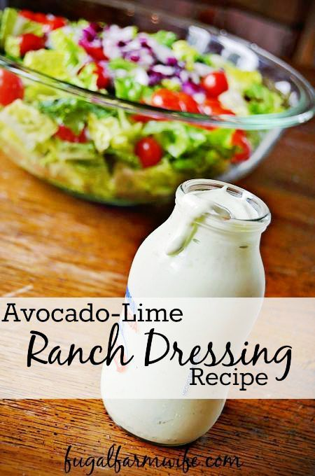Avocado-Lime Ranch Dressing Recipe Avocado-Lime Ranch Dressing, AKA Copy Cat Chic-Fil-A Dressing takes ranch dressing to a whole new level with a bit of avocado and lime. So good! Especially on Taco salad.