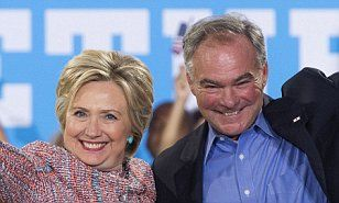 BREAKING NEWS: Hillary Clinton chooses Virginia Senator Tim Kaine as her running mate | Daily Mail Online