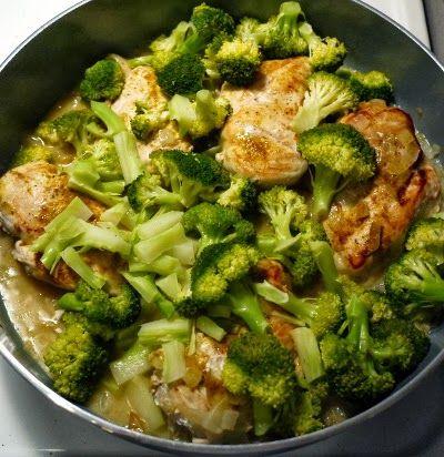 Coconut milk chicken and broccoli