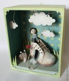 """""""La maison-chaussure"""" - Photo de BOITES ET CADRES DISPONIBLES * Available boxes and frames - Tibout de blog"""