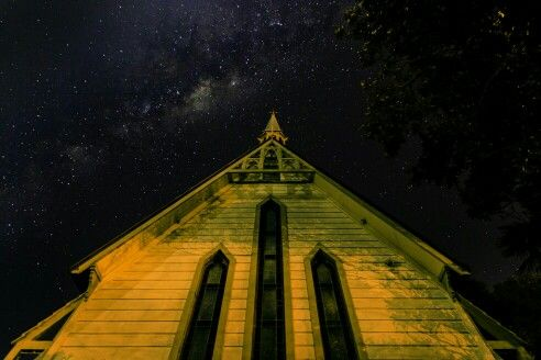 Milky Way over Pauatahanui Church.   Follow me on facebook for more - Just Another Wannabe.
