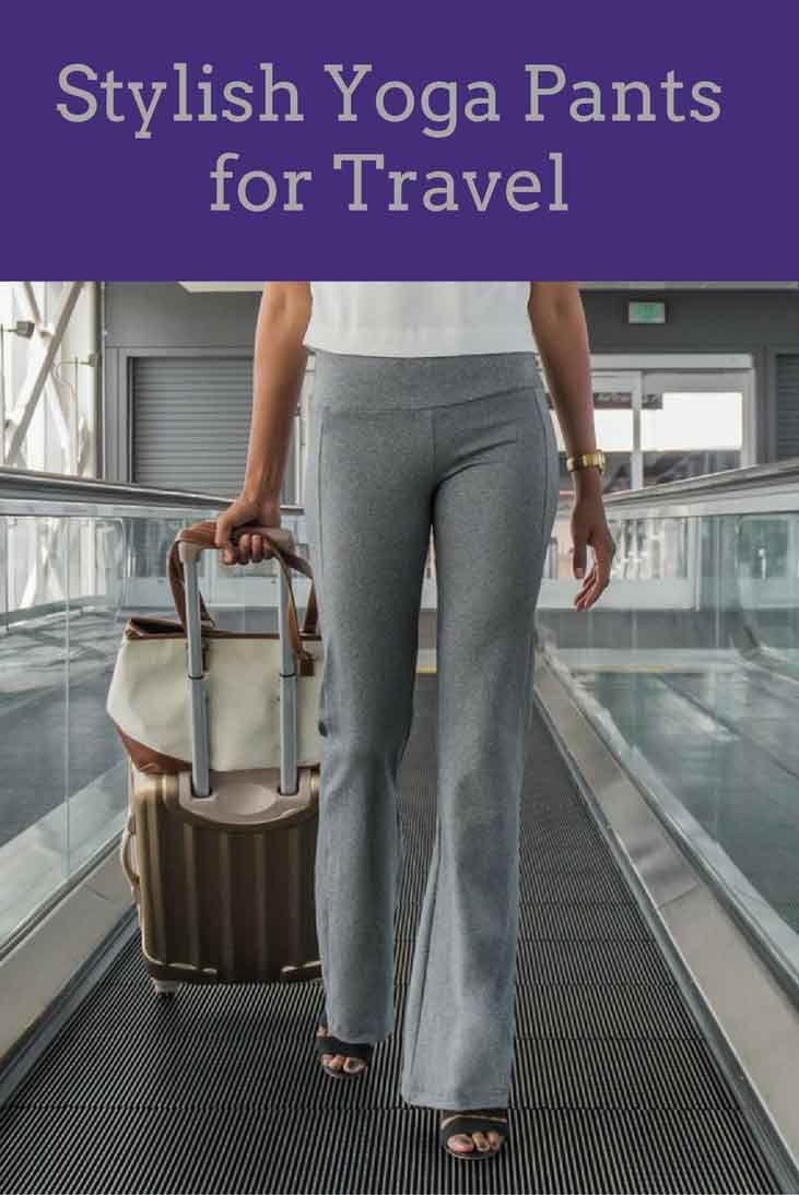 These comfortable pants from Betabrand have hidden pockets for hotel key and passport.