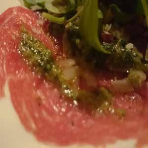 Recept carpaccio dressing