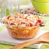 Une casserole de riz gratinée et nappée d'une divine sauce Alfredo? Un plat nourrissant prêt en un rien de temps!