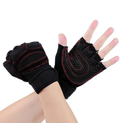 Vitalismo Exercise Gloves for Sports, Fitness, Workout, Outdoor We Vitalsimo Pay More Attentions on Material, Design and Quality To Make Best Exercise Gloves ( Callouses and Blisters Guard, Hand Protection, NON-Slip, No Palm & Stitching Rip, Great Grip, Powerful Wrist Support And Exceptional... #bikingworkoutoutdoor