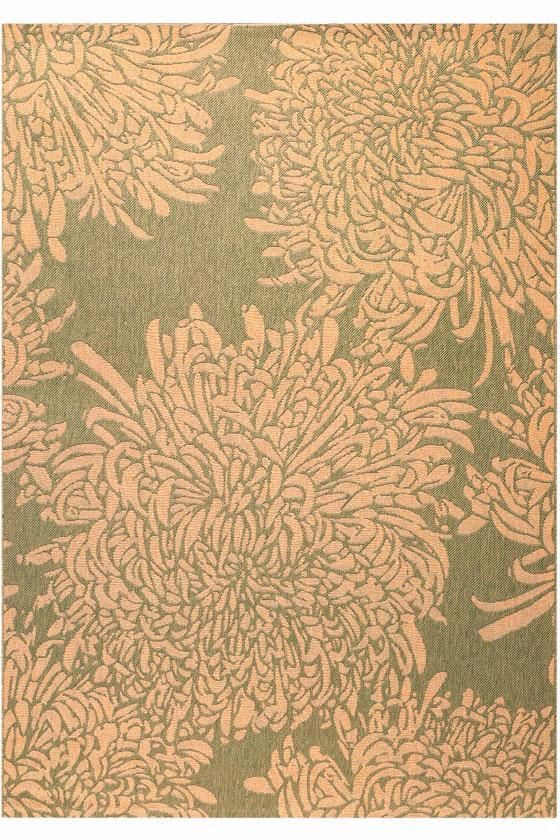 Martha stewart living chrysanthemum all weather rug for All weather patio rugs