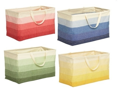 $20 Container Store Baskets - perfect for laundry, magazines, dog toys, beach stuff, picnics, throw blankets, cleaning supplies, crafts, etc.