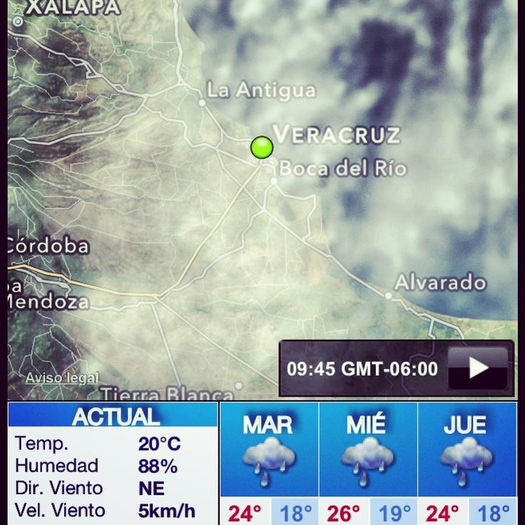 Buenos días a todos feliz #martes #lluvioso aquí en la zona #conurbada #Veracruz #BocaDelRio aquí les dejo las condiciones del #clima para este 22 de #enero Mas Información de Veracruz en http://www.turismoenveracruz.mx #weather #travel #turismo