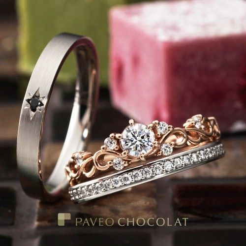 wedding bands + engagement ring
