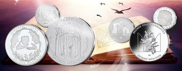 Grimms Märchen - BRD Gedenkmünzen-Serie zu den Märchen der Brüder Grimm