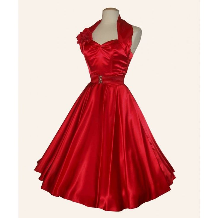I love red dress 50s
