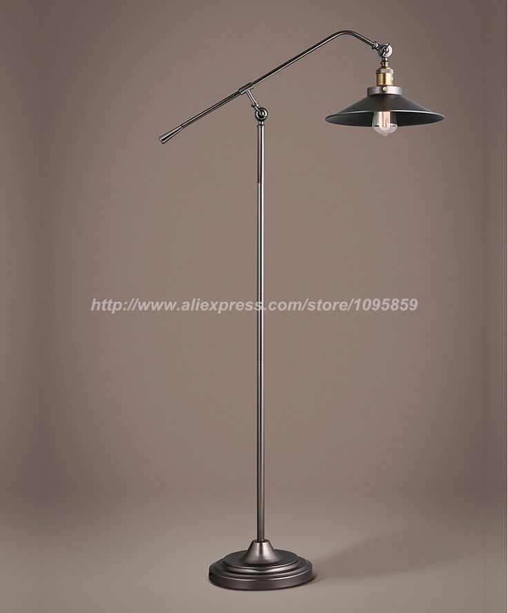Cheap Floor Lamp Light, Buy Quality Fishing Floor Lamp Directly From China  Standard Lamp Suppliers: Retro Long Arm Fishing Floor Lamps Lights Bedroom  Black ...