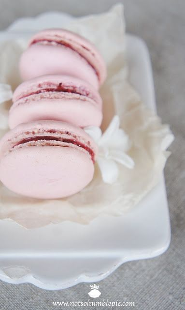 Ladurée's raspberry macaron I love Laduree's macorons. I will bake them someday...