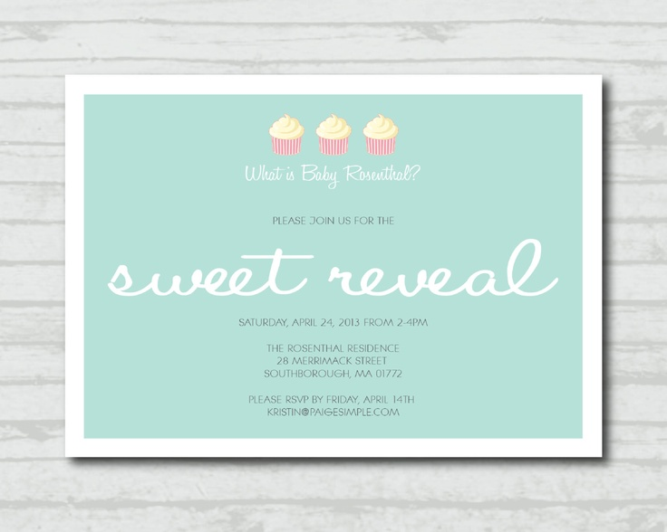 13 best Gender Reveal Party Ideas images – Dessert Party Invitations