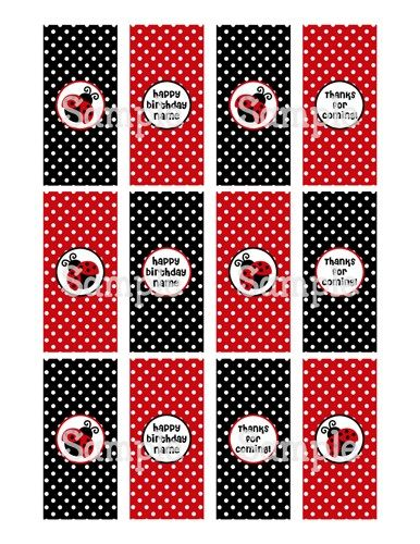 candy bar cover template free printable ladybug candy