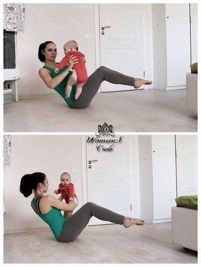Упражнения для молодых мамочек | Женское кредо
