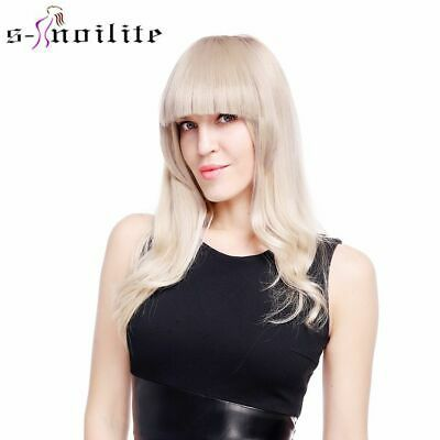 (Ad) Short Front blunt bangs Clip in bang fringe Hair extensions straight US Stock