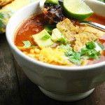 Mexicaanse tortilla soep (Sopa Azteca)