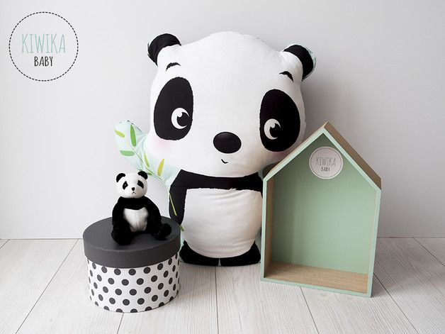 Muñecos - KiwikaBaby - PODUSZKA XXL - Panda - hecho a mano por KiwikaBaby en DaWanda