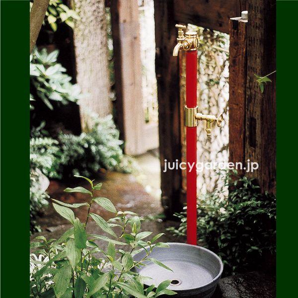 懐かしい風景をイメージしたというレトロな雰囲気の立水栓。。【レトロな立水栓】 クラシック立水栓:双口 蛇口2個付き昔の形を今に再現 古くて懐かしいレトロモダンの美しい水栓柱です。 水栓柱 タップ クラシック アンティーク 和風 レトロ【送料無料】| ガーデン ガーデニング 庭 水洗 水道 ガーデンタップ 輸入住宅