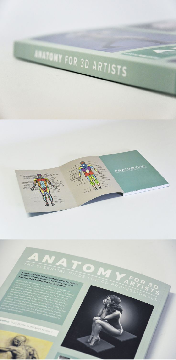 The Anatomy for 3D Artists book from 3dtotal Publishing
