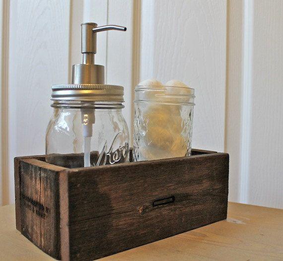 Rustic Reclaimed Wood Caddy Gift Desk Organizer Pretty