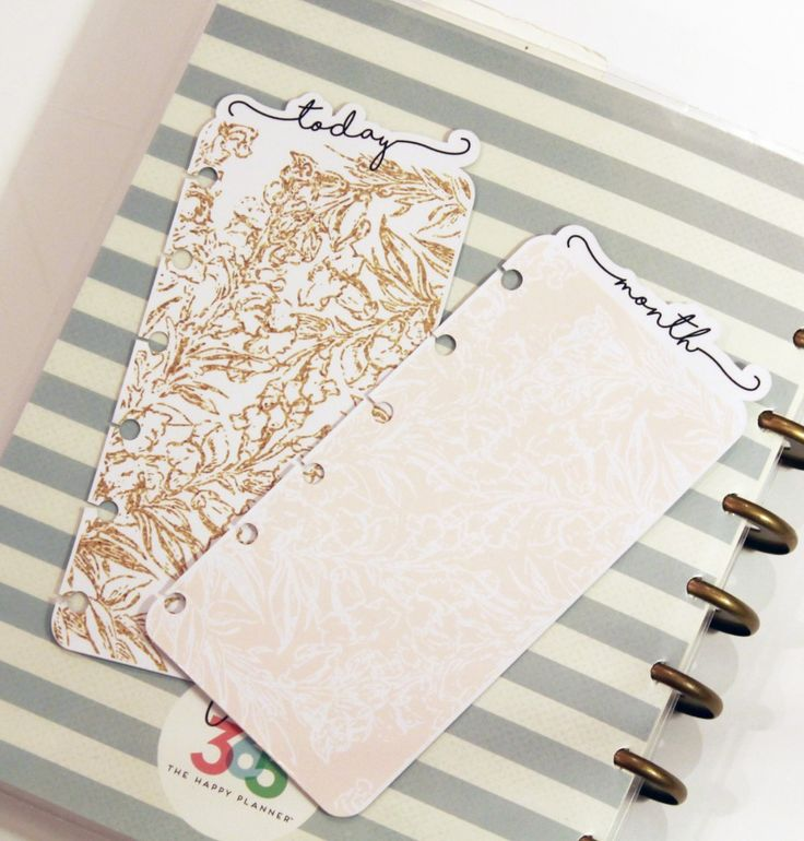 DIY Planner Tabs | Felly Bee | The Happy Planner