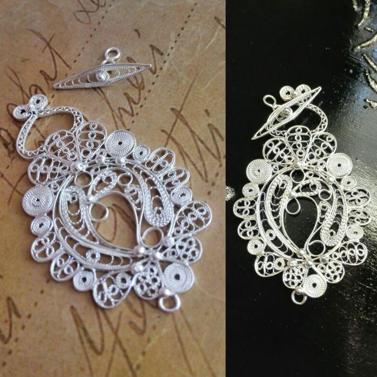 Handmade,fine silver... Kopča ručne izrade od čistog srebra