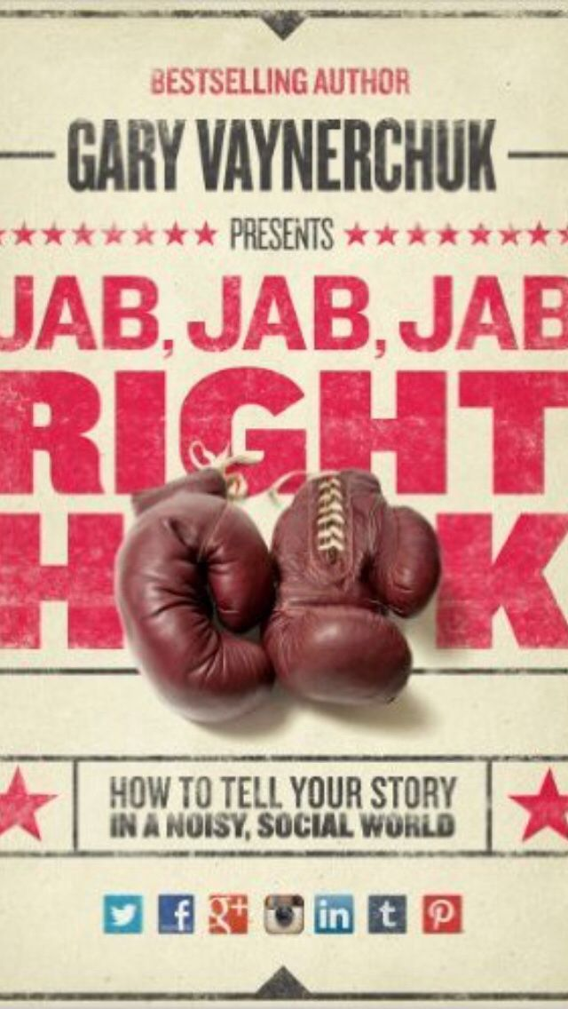 Working through @garyvee book. Brutally honest and informative. #jabjabjabrighthook