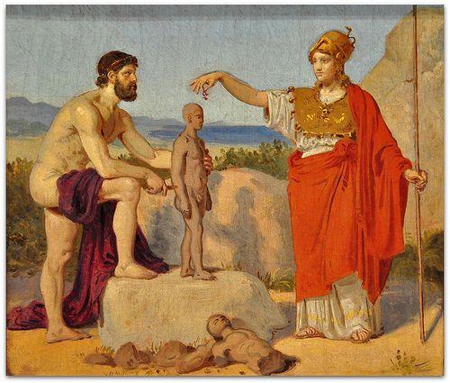 Prometheus Creating Man Constantin Hansen: Pro...
