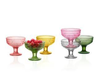 Iittala glass colours 2013 Kastehelmi bowl