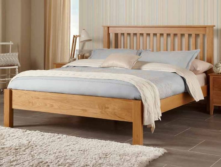 lincoln oak solid white oak wooden bed frameswooden - Strong Bed Frame