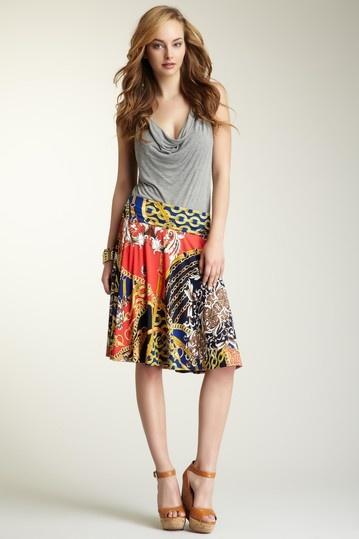Status Print Jersey Knit Skirt on HauteLook