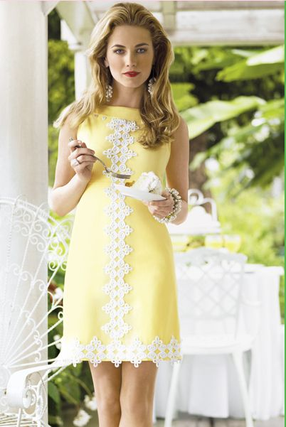lovely yellow dress, perfect for a spring garden party