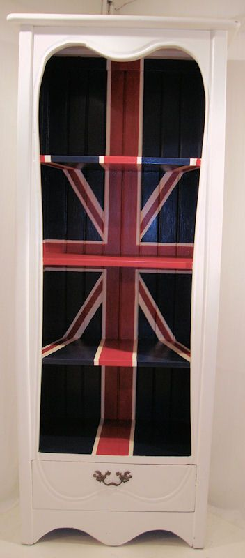union jack bookcase