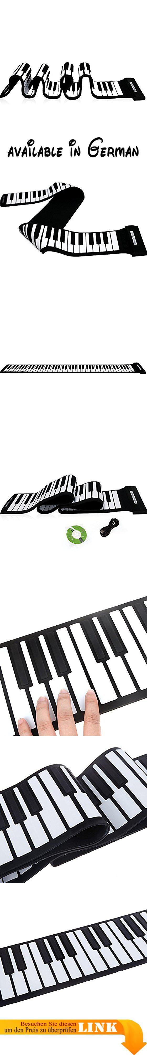 Andoer USB MIDI-Rollen, für Keyboards mit 88 Tasten, Piano keyboard, elektronisch, Silikon-flexibel. Kompatibel mit Cubase, Cakewalk Sonar, Software usw., Nuendo wichtigsten, Sequencer und TRAKTOR LE 2 DJ VST/VSTi.. Somit einfach zu Spielen, Aufnehmen und Bearbeitung Musik und lässt sie unbedingt die gleiche wie das echte Klavier.. Kann mit der Hand, es kann auch eingesetzt werden, für einfaches Verstauen und in einer Handtasche Koffer.. Kann verwendet werden, für Schüler,