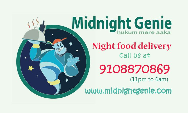 business card designed by me for an night food delivery startup