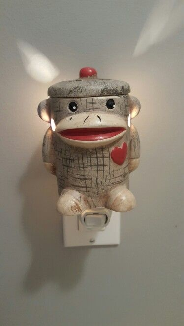 Sock monkey night light warmer so had to have it