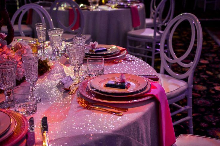 Table Setting - Oasis Centre - Elegant Wedding Reception - Jennifer Bergman Weddings