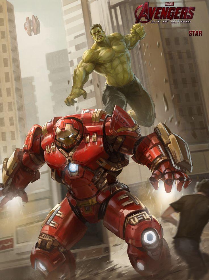 #Iron #Man #Fan #Art. (HulkBuster VS Hulk!) By: Xingxing Zhou. ÅWESOMENESS!!!™