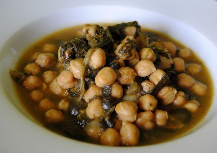 Asopaipas. Recetas de Cocina Casera .: Potaje de Garbanzos y Espinacas